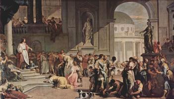 Sebastiano Ricci. The defendant Susanna and the prophet Daniel