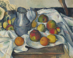 Paul Cezanne. Jug and fruit