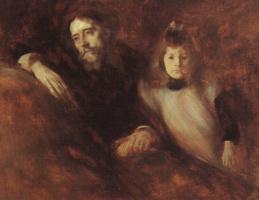 Эжен Каррьер. Мужчина с девочкой