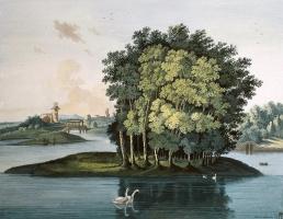 Семен Федорович Щедрин. Остров на Большом пруду в Царскосельском парке