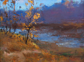 "Ivan Grigorovich Voloshin. ""Autumn shower"""