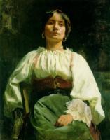 Чарльз Голди. Дама в белой блузке
