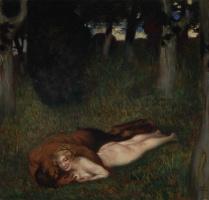 Франц фон Штук. Фавн и нимфа. 1892