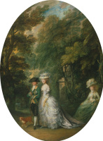Thomas Gainsborough. Henry, Duke of Cumberland with the Duchess of Cumberland and lady Elizabeth ' Situation