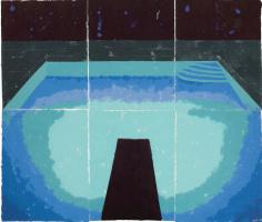 David Hockney. Piscine de Medianoche (Paper Pool 30)