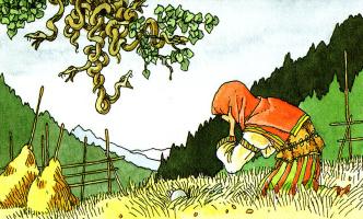 Клодин Сабатье. Змей на дереве