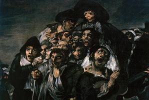 Francisco Goya. A pilgrimage to San Isidro. Fragment