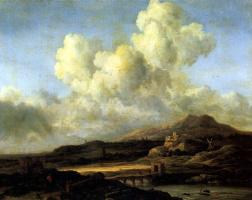 Jakob van Isaacs Ruisdael. Sunny day