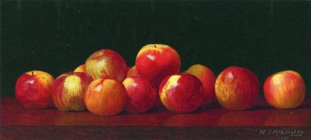 Уильям Джозеф МакКлоски. Яблоки на поверхности стола