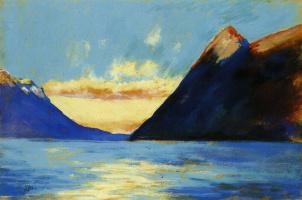 Озеро Гарда с горой Бальдо