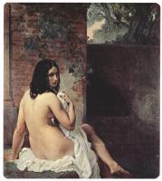 Франческо Айец. Купальщица, сидящая спиной