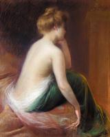 Дельфин Анжольра. Сидящая женщина со спины