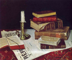 Henri Matisse. Still life with books and candle
