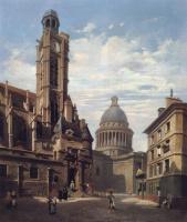 Жюль Дюпре. Вид на Пантеон и церковь