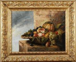 Федор Петрович Чумаков. Натюрморт с фруктами в плетеной корзине 1880-1890–е