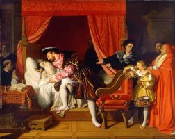 Jean Auguste Dominique Ingres. The death of Leonardo da Vinci