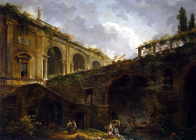 Hubert Robert. The Villa Madama near Rome