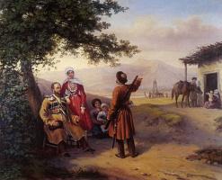 Григорий Григорьевич Гагарин. Портрет В.И. и В.А.Арнаутовых. 1840-е