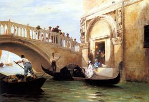 Луи Клода Моучот. Выезд на набережную в Венеции