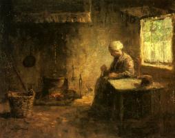 Йозеф Исраэлс. Крестьянка у очага