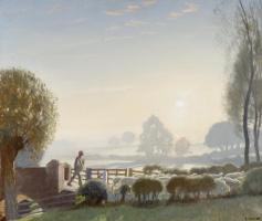 Джордж Клаузен. Мальчик-пастух. Восход