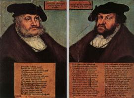 Лукас Кранах Старший. Портреты Иоганна I и Фридриха III