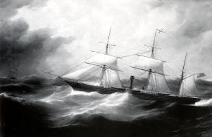 Сэмюэл Уолтерс. Парусное судно в шторм
