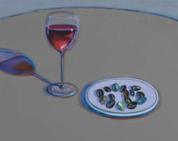 Уэйн Тибо. Бокал вина