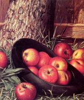 Леви Уэллс Прентис. Натюрморт с яблоками в шляпе