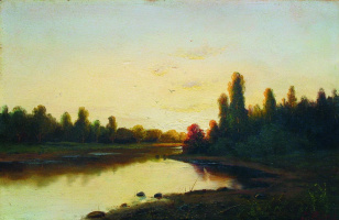 Efim Efimovich Volkov. Sunset on the river