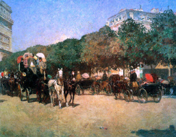Childe Hassam. The Day Of The Grand Prix