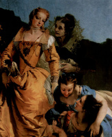 Джованни Доменико Тьеполо. Нахождение младенца Моисея, фрагмент