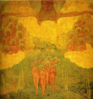 Kazimir Severinovich Malevich. Sketch of fresco painting. The triumph of the sky