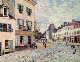 Alfred Sisley. Street in Marly