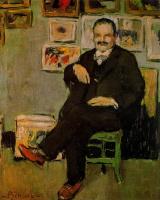 Пабло Пикассо. Сидящий на стуле мужчина с усами