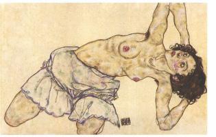 Egon Schiele. Topless girl