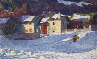 Giovanni Giacometti. Borgonovo winter