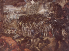 Jacopo Tintoretto. Federigo II Gonzaga wins Parma