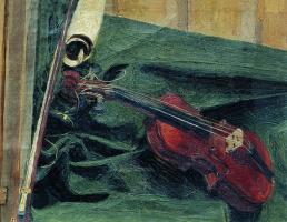 Иван Семенович Куликов. Натюрморт со скрипкой. 1890
