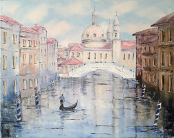 Sergey Vladislavovich Pichugin. Walking through the canals of Venice