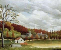 Анри Руссо. Вид Бьевр-сюр-Гентилли