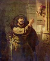 Рембрандт Ван Рейн. Самсон угрожает своему тестю
