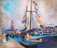 Рауль Дюфи. Яхта с флагами