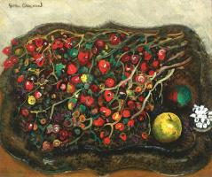 Борис Дмитриевич Григорьев. Натюрморт с ягодами и яблоками