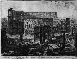 Джованни Баттиста Пиранези. Вид Колизея с Аркой Константина