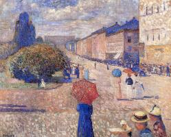 Edvard Munch. Spring day on Karl Johan street