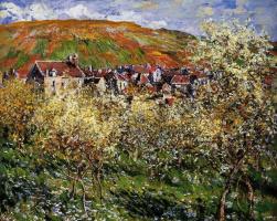 Claude Monet. Plum trees in bloom in Vetee