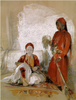 Джон Фредерик Льюис. Принц Искандер и его слуга нубийский