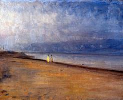 Микаэль Питер Анкер. Фигуры на пляже в Скаген