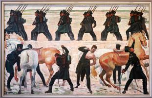 Выступление частей из йенских студентов во время освободительной войны 1813 года
